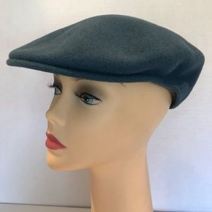 Kangol Mens Newsboy Gray/Blu Wool Hat Size Med
